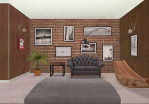 diseño sala de estar 3D