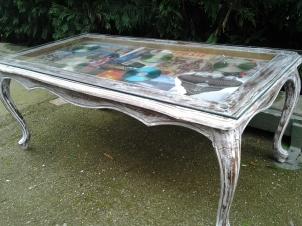 mesa de cafe restaurada