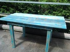 mesa con madera de palet