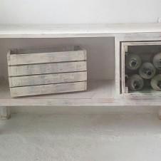 mueble auxiliar con madera recuperada