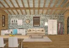 diseño cabaña 3D