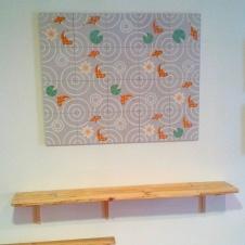 mosaico y estanteria
