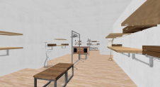 diseño tienda 3D