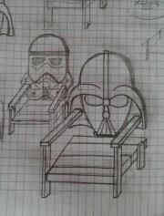 boceto sillas