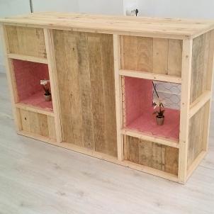 mostrador madera reutilizada